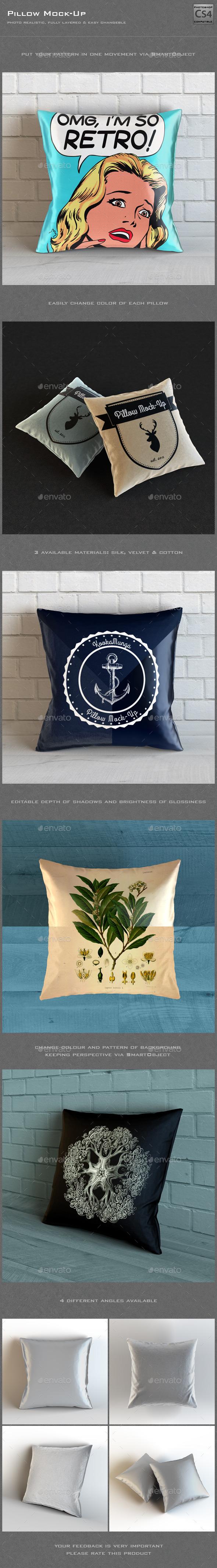 Pillow Mock-Up - Product Mock-Ups Graphics