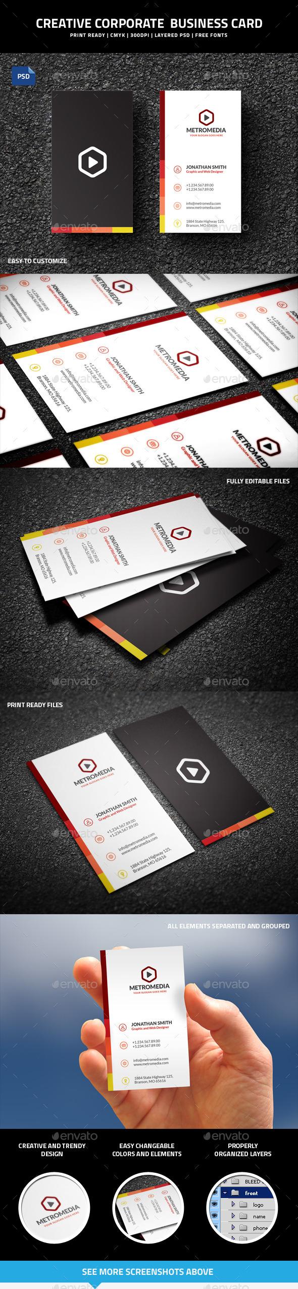 Creative Corporate Business Card - 52 - Creative Business Cards