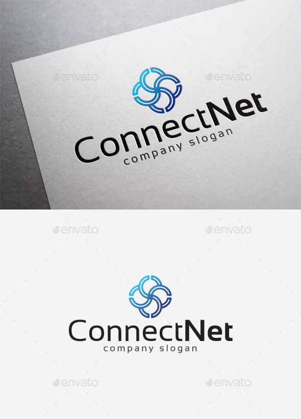 Connect Net Logo - Abstract Logo Templates