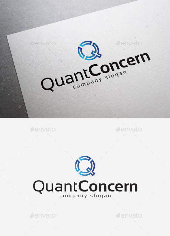 Quant Concern Logo - Letters Logo Templates