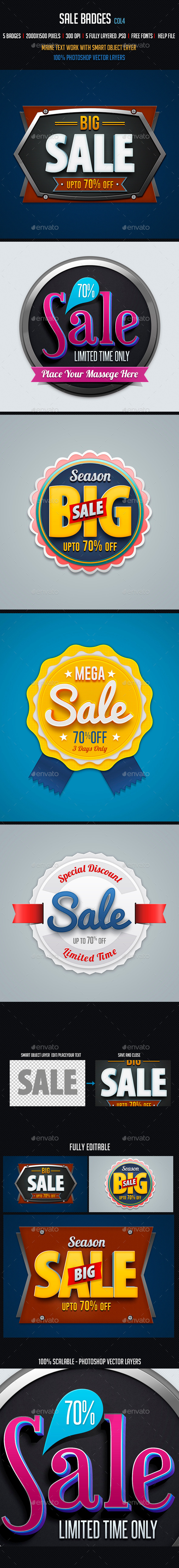 Sale Badges 4 - Badges & Stickers Web Elements