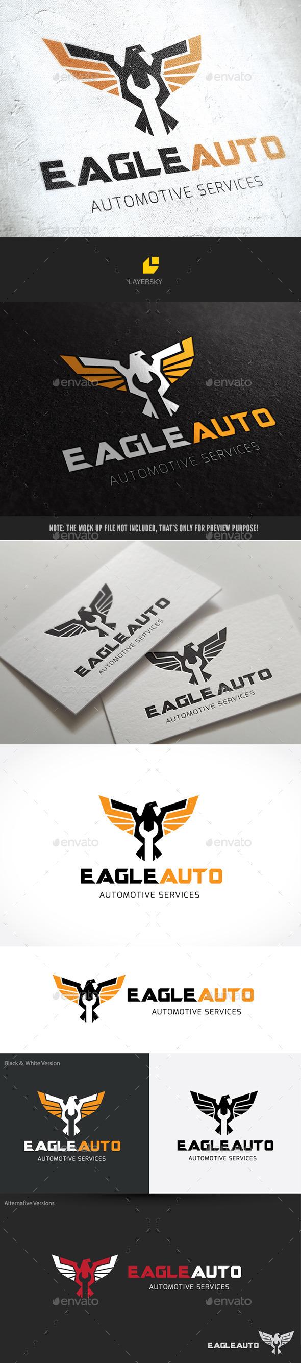 Eagle Automotive - Animals Logo Templates