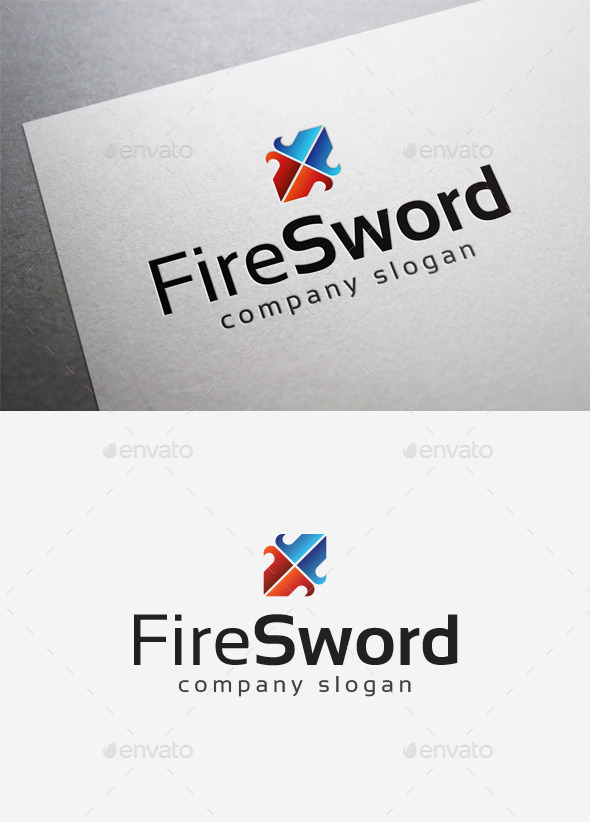 Fire Sword Logo - Abstract Logo Templates