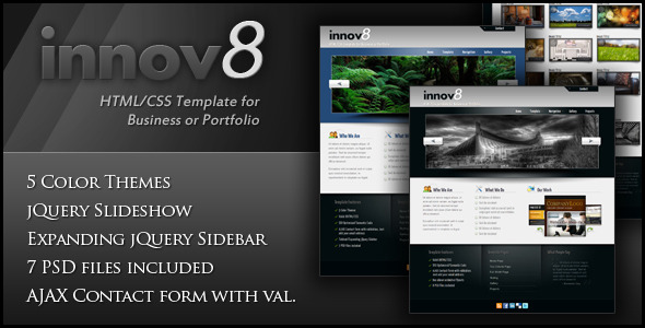 innov8 - HTML/CSS for Business or Portfolio - Business Corporate