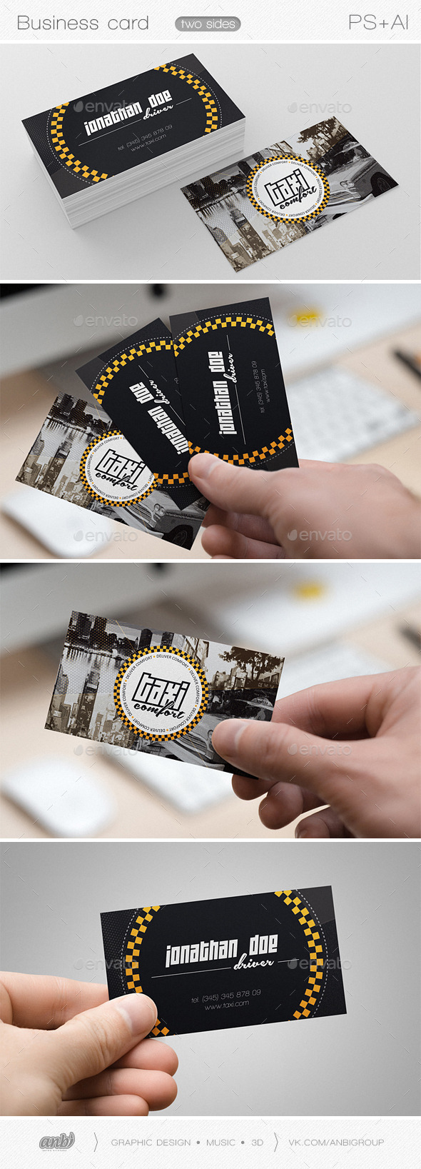 Taxi comfort 2 - Creative Business Cards