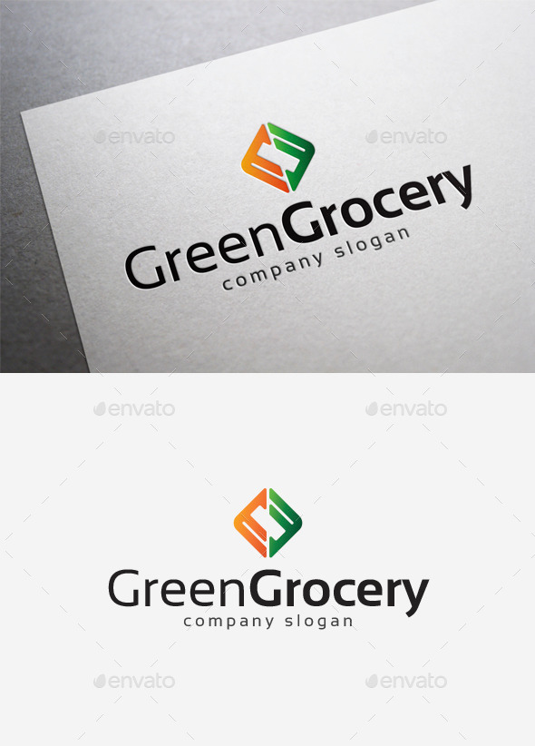 Green Grocery Logo - Abstract Logo Templates