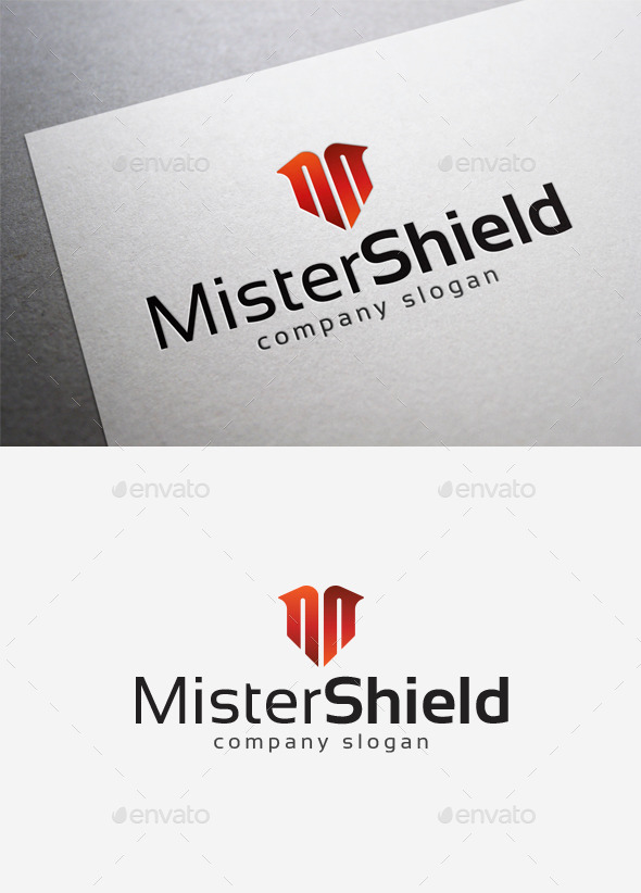 Mister Shield Logo - Letters Logo Templates