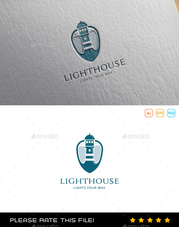 Lighthouse Logo - Vector Abstract