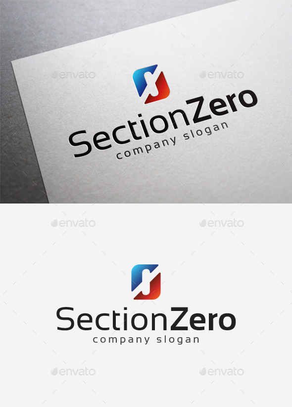Section Zero Logo - Numbers Logo Templates
