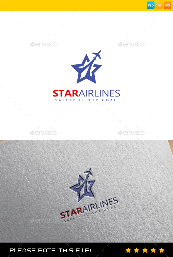Star Airlines Logo - Vector Abstract