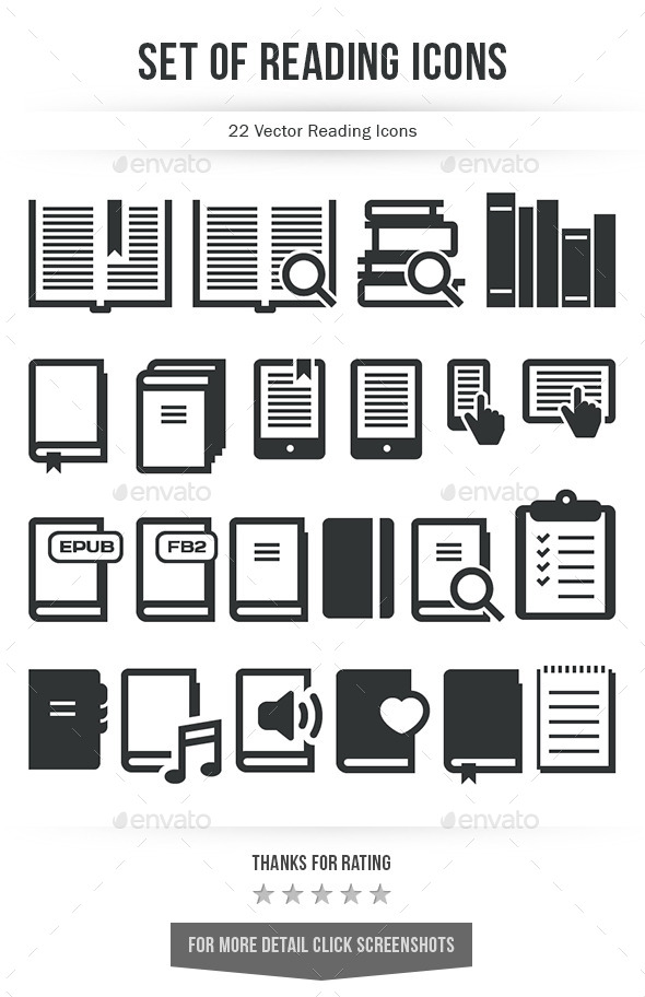 Set of Reading Icons - Software Icons