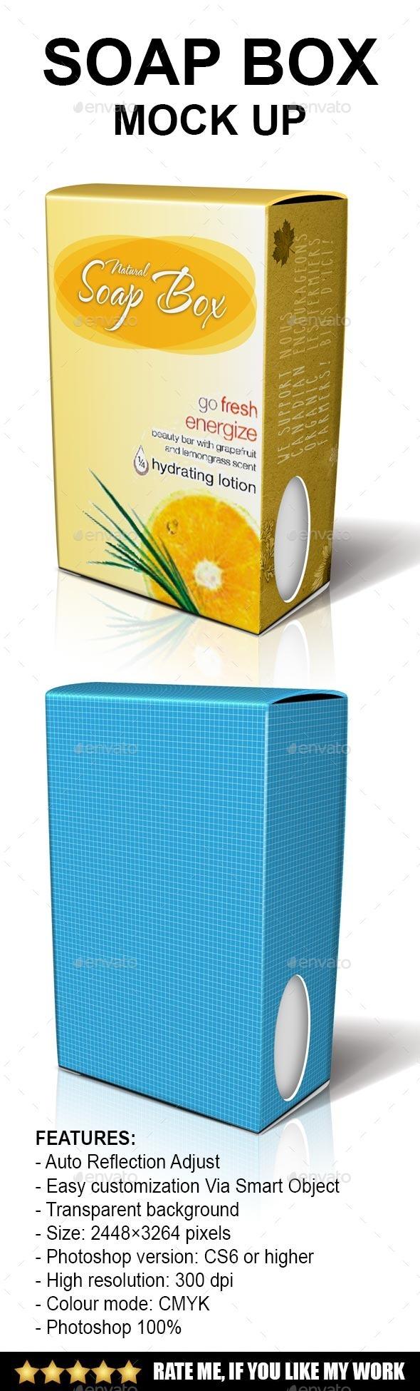 Soap box Mock-up - Product Mock-Ups Graphics