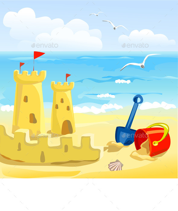 Sandcastles and Childrens Toys - Seasons Nature
