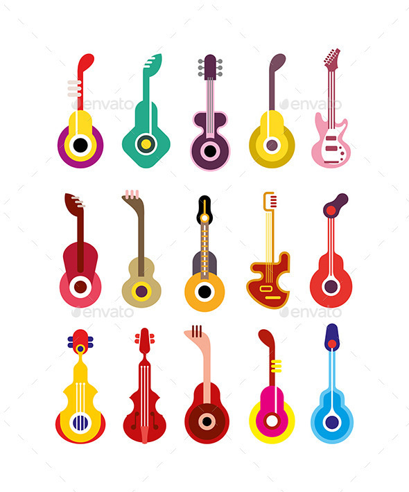 Guitars - Man-made Objects Objects