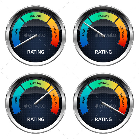Realistic Rating Dashboard - Technology Conceptual