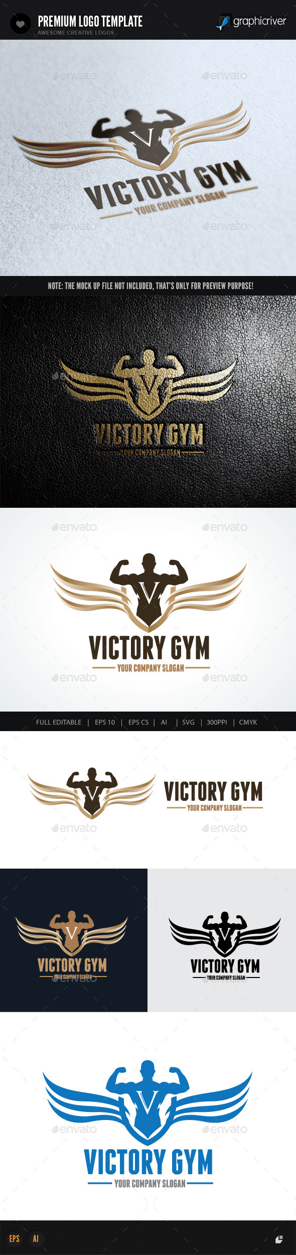 Victory Gym - Crests Logo Templates