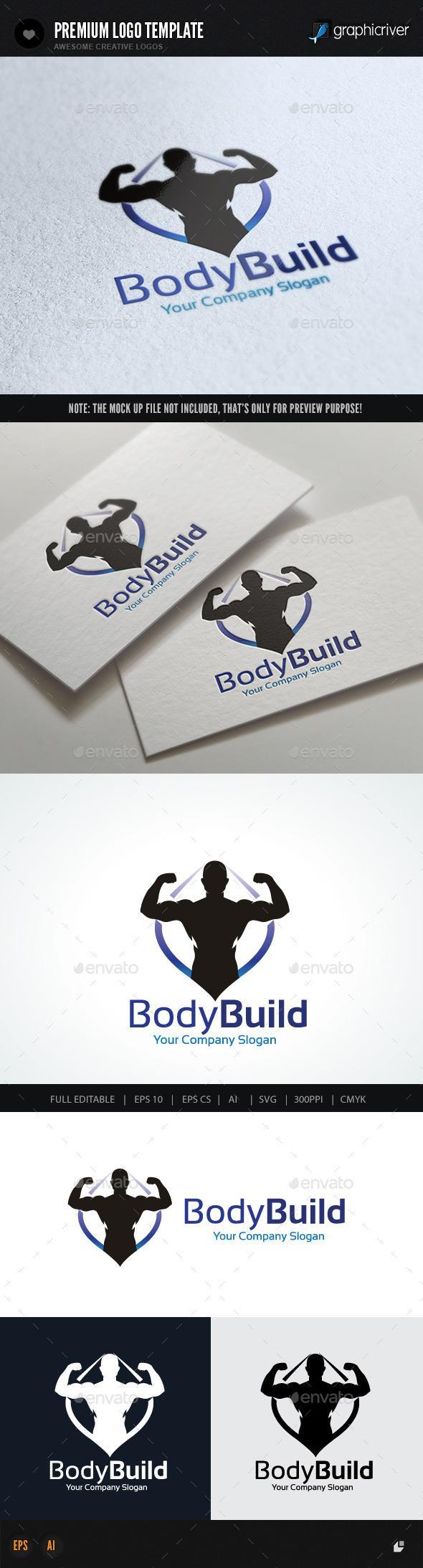 Body Building - Humans Logo Templates