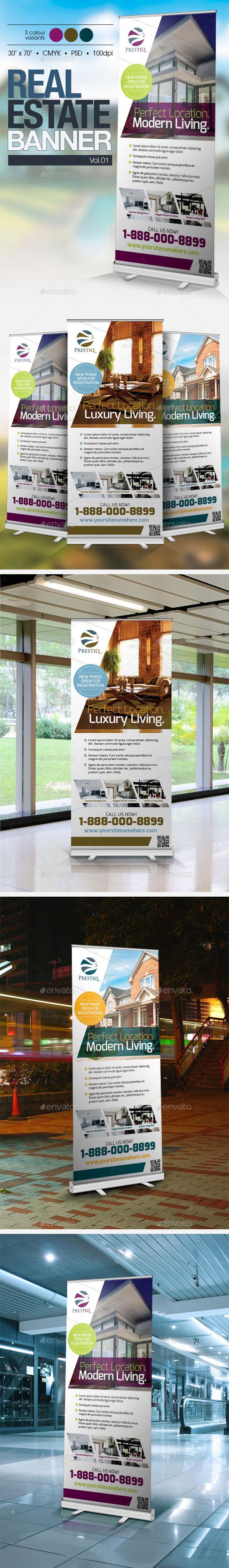 Real Estate Banner Vol.01 - Signage Print Templates