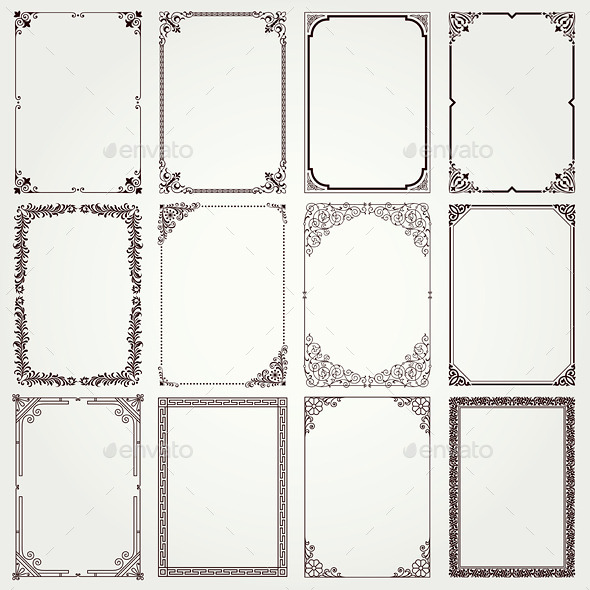 Decorative Frames and Borders - Borders Decorative
