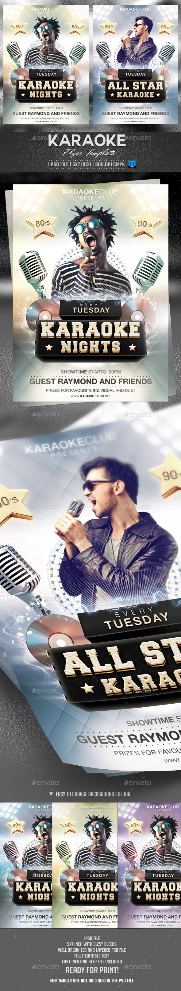 Karaoke Flyer Template - Events Flyers