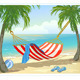 Hammock Palm Trees on the Beach - GraphicRiver Item for Sale