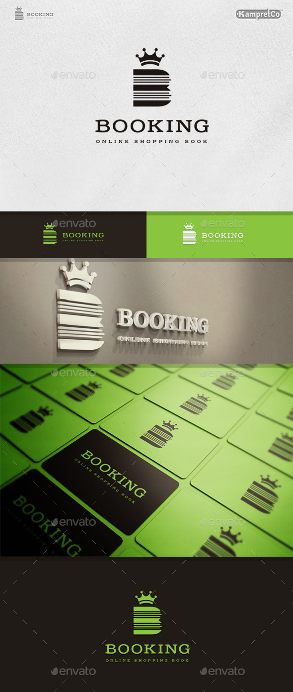 Book King Logo - Letters Logo Templates