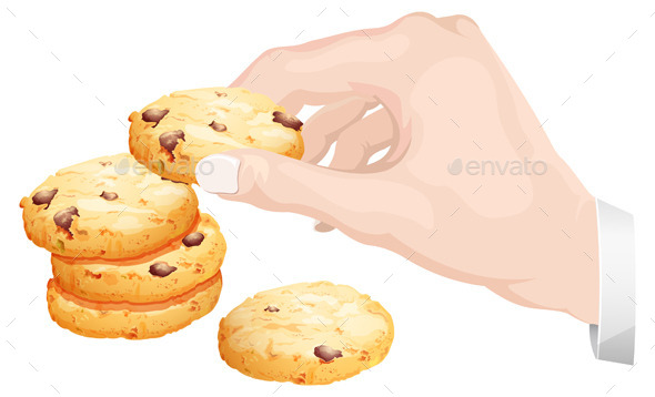 Hand Picked Healthy Cookies Illustration - Food Objects