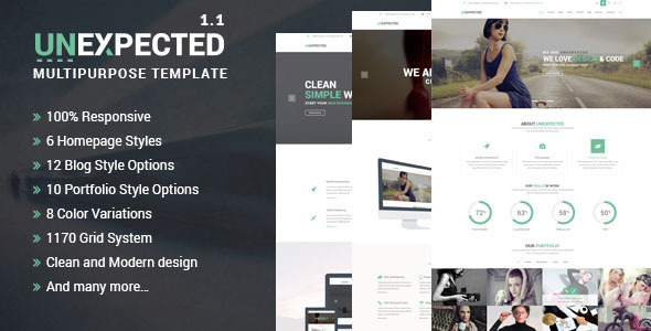 Unexpected Multipurpose HTML Template - Site Templates