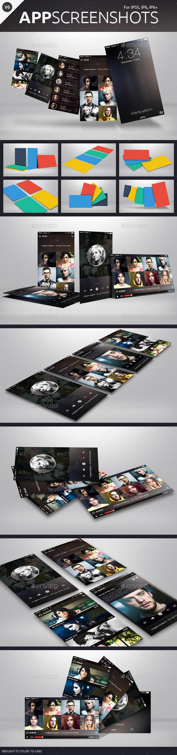 App Screenshot Mockups V6 - Mobile Displays