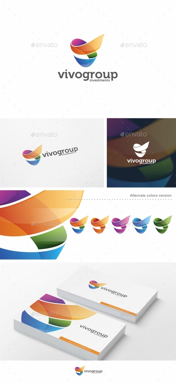 Abstract V Letter - Logo Template - Letters Logo Templates