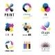 CMYK Emblems - GraphicRiver Item for Sale