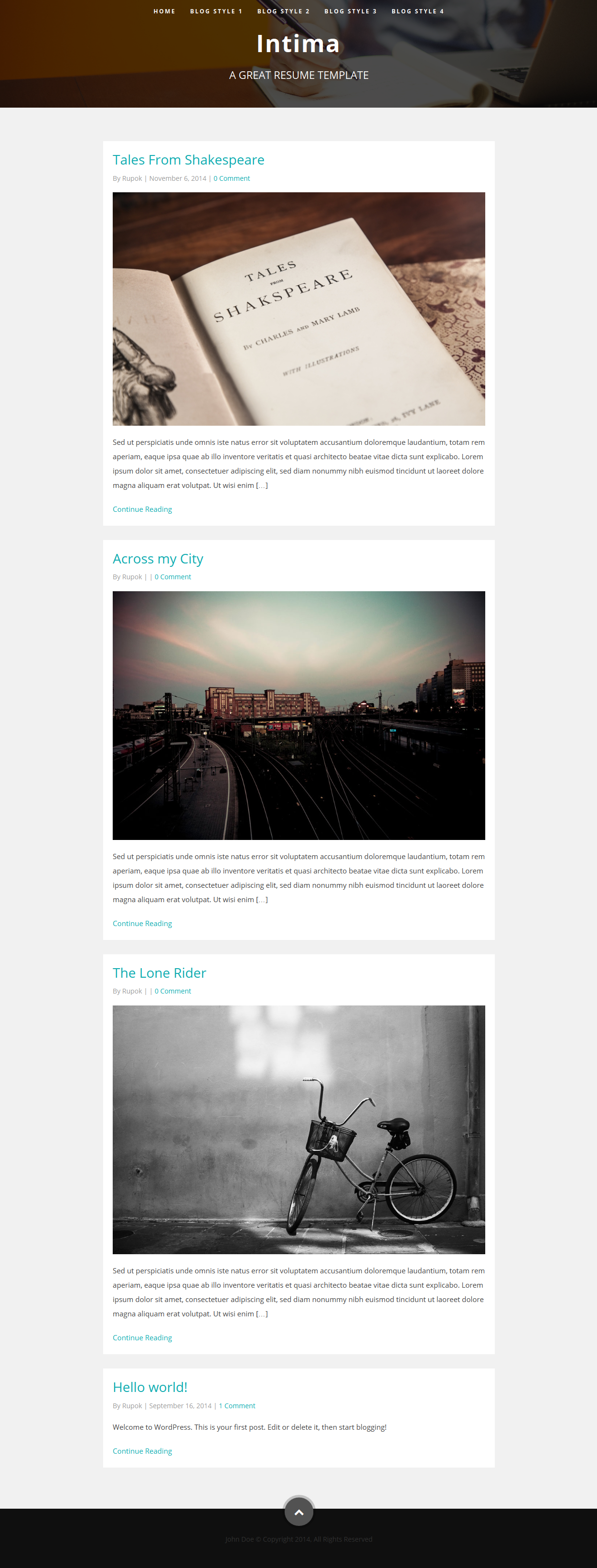 Intima Resume Portfolio Wordpress Theme By Bdinfosys Themeforest