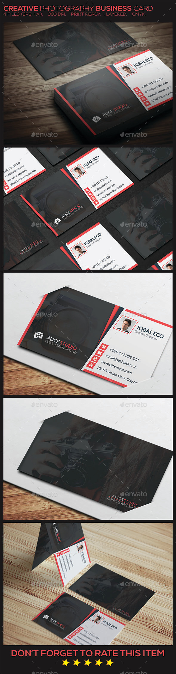 Creative Photography Business Card - Creative Business Cards
