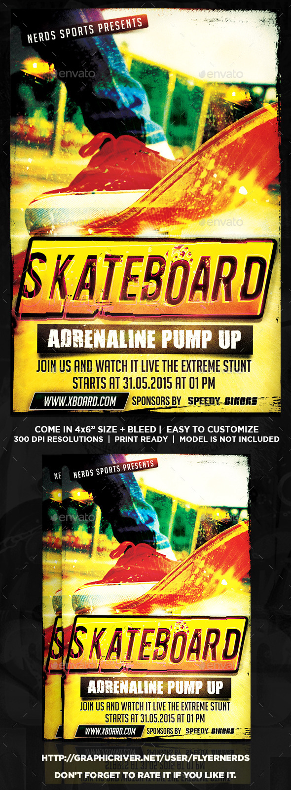 Skateboard Competition Sports Flyer - Sports Events