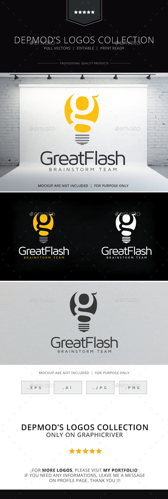 Great Flash Logo - Letters Logo Templates