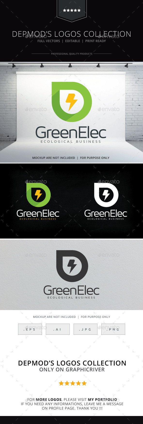 Green Elec Logo - Nature Logo Templates