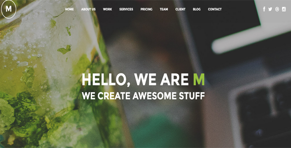 M - Creative Multi-Purpose WP One Page Theme - Creative WordPress