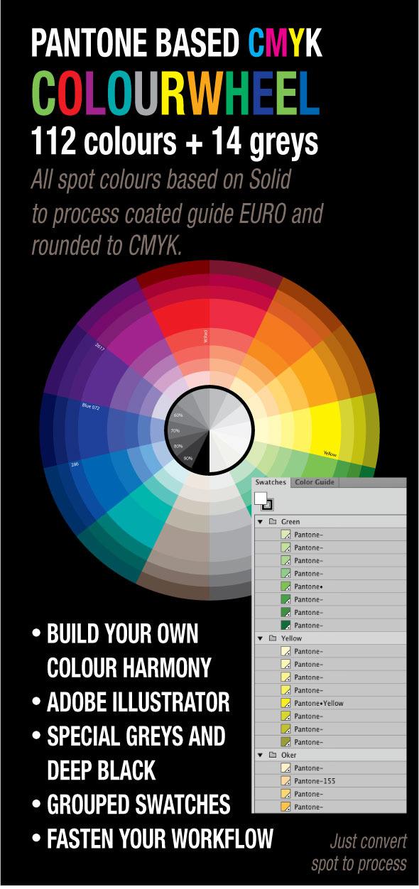 Pantone Color wheel - Illustrator Add-ons