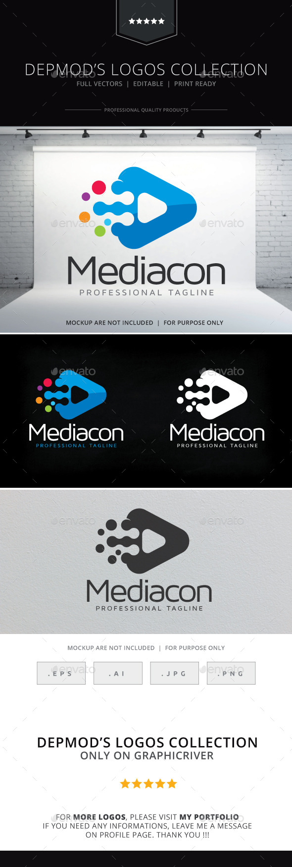 Mediacon Logo - Abstract Logo Templates