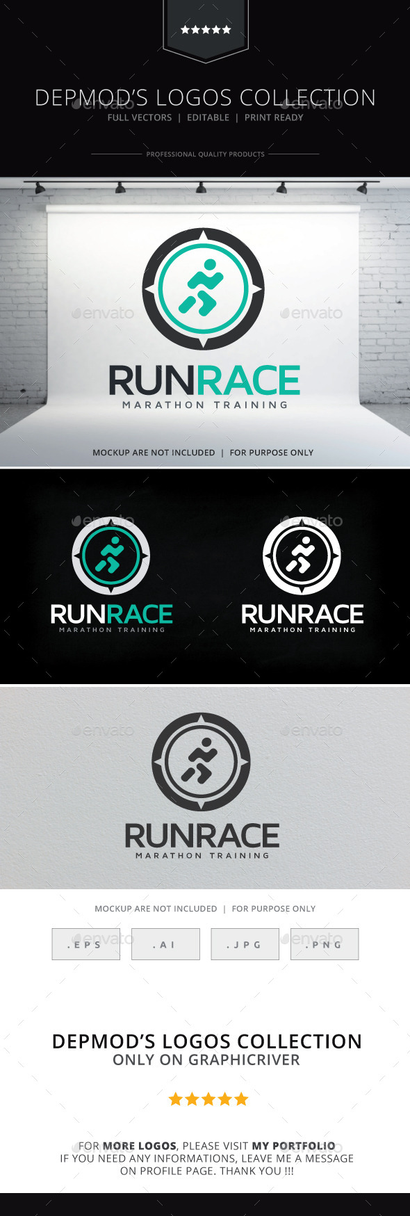 Run Race Logo - Humans Logo Templates