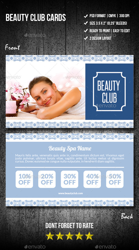 Beauty Club Cards - Loyalty Cards Cards & Invites