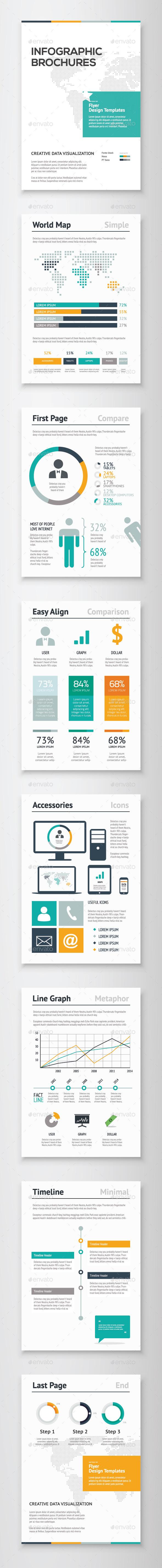Infographic Brochure Vector Elements Kit 2 - Infographics
