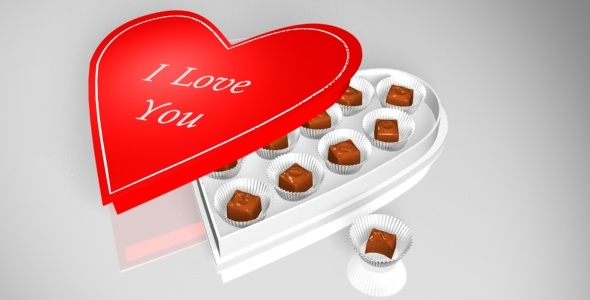 Heart shapped Box of Chocolates - 3DOcean Item for Sale