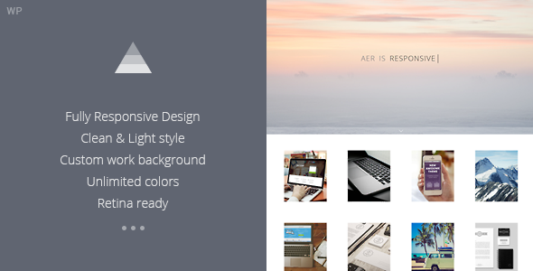AER – Clean & Light WordPress Theme