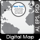 Silver Digital Earth Map Concept - GraphicRiver Item for Sale