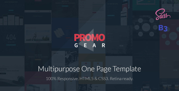 PromoGear — Multipurpose OnePage Template - Business Corporate