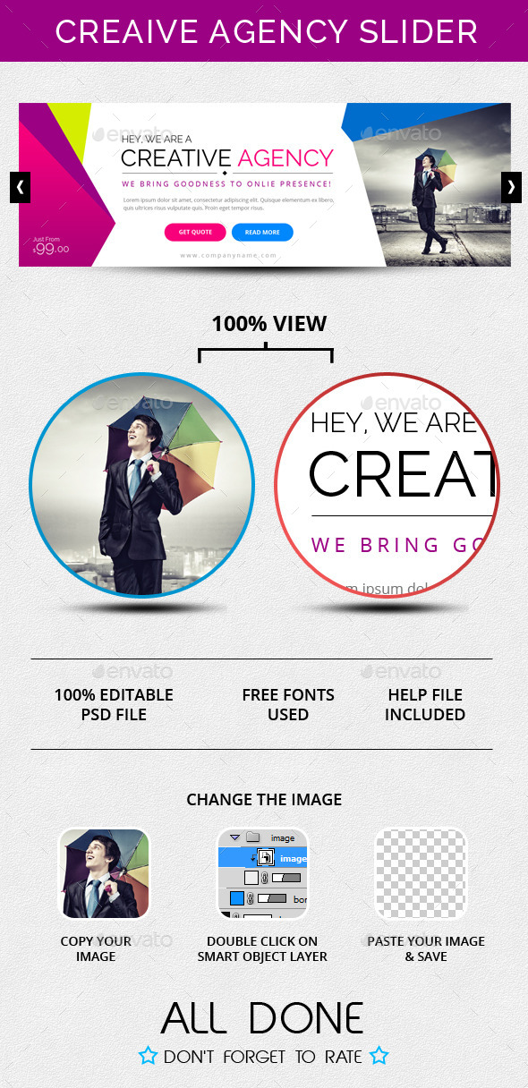 Creative Agency Slider - Sliders & Features Web Elements