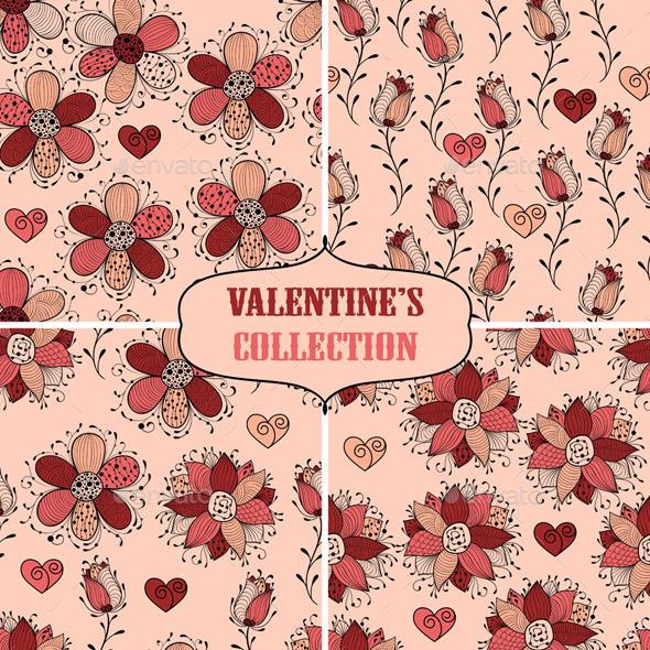 Valentine's Seamless Collection - Patterns Decorative
