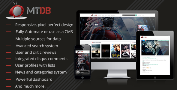 MTDb - Ultimate Movie&TV Database Nulled Scripts