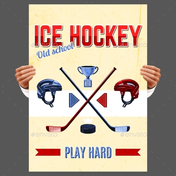 Ice Hockey Poster - Sports/Activity Conceptual